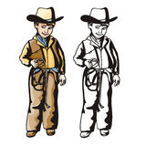 Western illustration series Stock Images