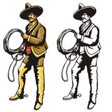 Western illustration series Royalty Free Stock Photos