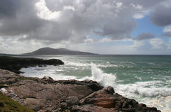 Western isles coast. A coastline in the Western Isles from harris towards Taransay royalty free stock photography