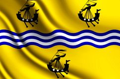 Western Isles Council realistic flag illustration. Usable for Background and Texture stock illustration