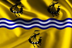 Western Isles Council realistic flag illustration. Usable for Background and Texture vector illustration