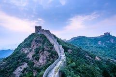 western Jinshanling Great Wall Royalty Free Stock Photography