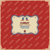 Western label background.Vector  western illustration with text Royalty Free Stock Images