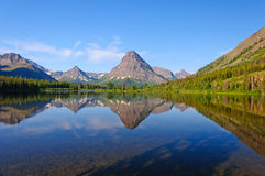Western lake and Mountains in Early Morning Stock Image