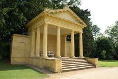 Western Lake Pavilion, Stowe landscape gardens, England stock photography