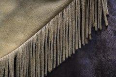 Western Cowboy Buckskin Leather Fringe Royalty Free Stock Images