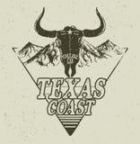 Western logo with bull head Stock Photography