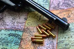Western Map I Stock Photo