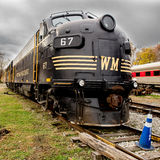 Western Maryland Old train locomotive Royalty Free Stock Image