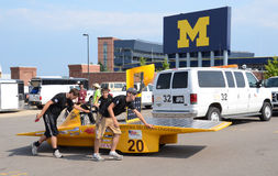 Western Michigan University�s solar car Royalty Free Stock Image