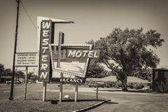 Western Motel on historic Route 66 in Oklahoma Royalty Free Stock Photography