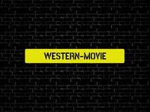 WESTERN-MOVIE - изображение при слова связанные с КИНО темы, слово, изображение, иллюстрация стоковые изображения
