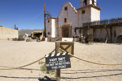 Western Movie Set. Movie set in old western sound stage Stock Photos