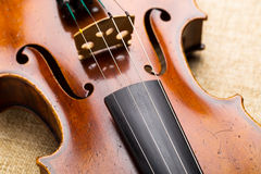 Western musical instrument, violin Stock Photo