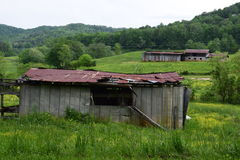 Western NC pasture and barns. Western NC pasture and old barns Royalty Free Stock Photography
