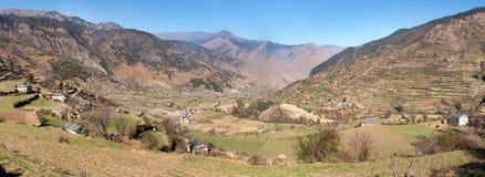 Western Nepal around Kolti village - Rara to Khaptad trek Royalty Free Stock Images