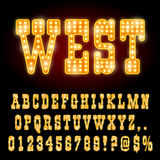 Western Night Font Stock Images