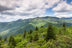 Western North Carolina Black Mountains Scenic Landscape Stock Photo
