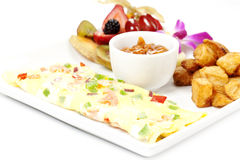 Western omelette Royalty Free Stock Images