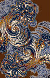 Western paisley. Western style paisley bandana motiff with burnout effect Stock Photo