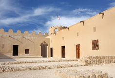 Western part of Riffa Fort Bahrain, inside view Royalty Free Stock Photography