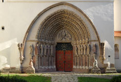 The western portal of the monastery of Porta Coeli. Stock Image