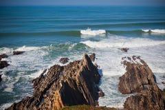Western Portugal Ocean Coastline Stock Images