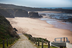 Western Portugal Ocean Coastline at Low Tide Stock Photos