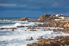 Western Portugal Ocean Coastline near Porto Stock Photos