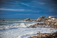 Western Portugal Ocean Coastline near Porto Royalty Free Stock Photos