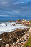 Western Portugal Ocean Coastline near Porto Royalty Free Stock Photography