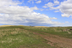 Western Prairie Sky. Grassland and sky of the western prairie of South Dakota Stock Photo