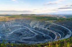 Western quarry Vysokogorsky GOK in Kachkanar. Sverdlovsk region. Russia. View of Western quarry Vysokogorsky GOK in Kachkanar. Sverdlovsk region. Russia Stock Photo