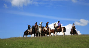 Western race horse - cowboy Royalty Free Stock Photography