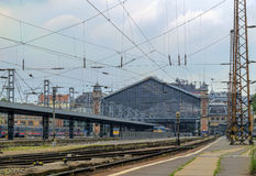 Western Railway Station in Budapest, Hungary Royalty Free Stock Photography