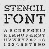 Western Retro Alphabet Vector Stencil Font. Royalty Free Stock Photo