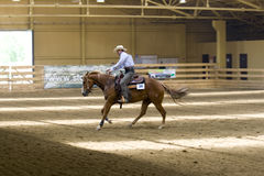 Western riding competition. NRHA Roleski 4 Spins - profesional,NRHA approved reining shows, takin plane in Stare Zukowice, Poland every year in May. This edition Royalty Free Stock Photos