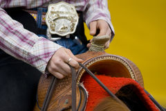 Western riding equipment detail. Cowboy and western riding equipment detail Stock Photos