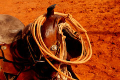 Western Saddle. A Nice Image of a Navajo Western saddle Stock Photos