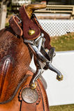 Western Saddle Horn Close Up Royalty Free Stock Photos