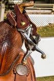 Western Saddle Horn Close Up Royalty Free Stock Photos