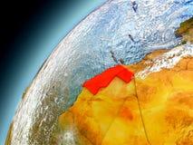 Western Sahara de la órbita de Earth modelo Fotos de archivo libres de regalías