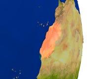 Western Sahara on Earth Royalty Free Stock Photo