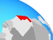 Western Sahara en el globo ilustración del vector