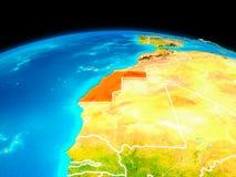 Western Sahara en rojo ilustración del vector