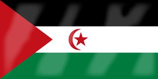 Western Sahara Flag. The flag of the African country Western Sahara Stock Photo