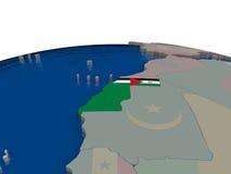 Western Sahara with flag Stock Image