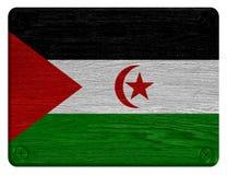 Western Sahara flag Royalty Free Stock Photography