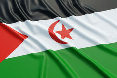 Western Sahara flag Royalty Free Stock Photo
