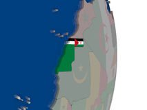 Western Sahara with its flag Stock Image